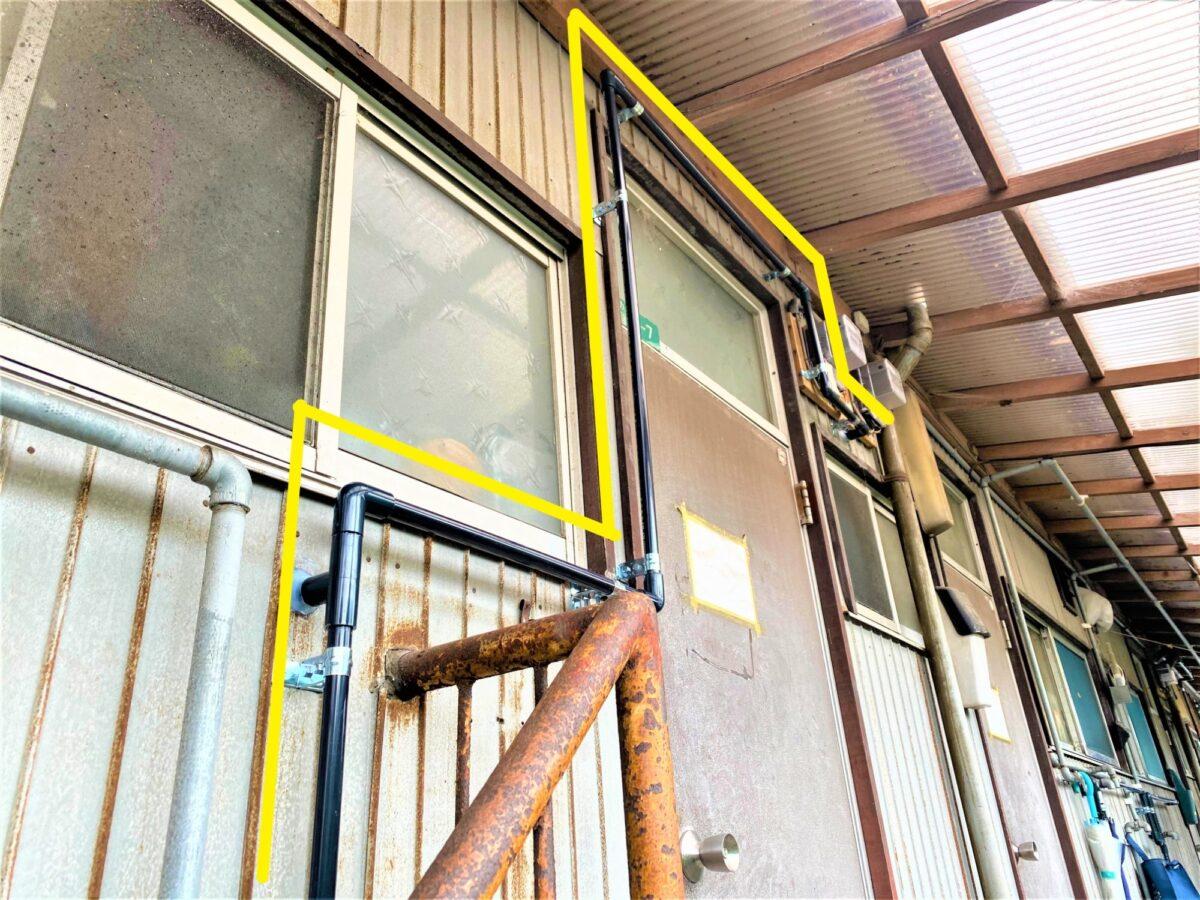 小倉南区徳力 給水引き換え工事 階段