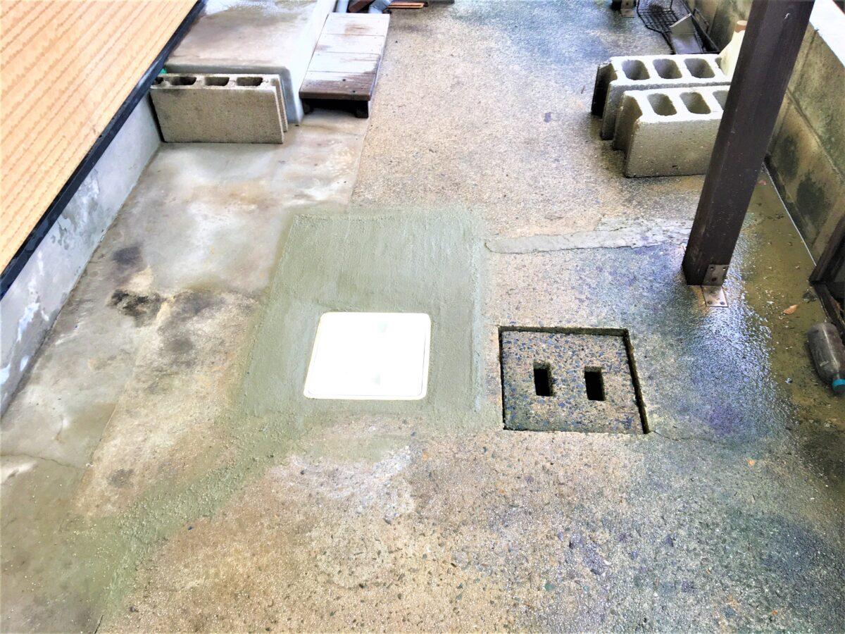 小倉北区泉台 排水ます交換 作業後