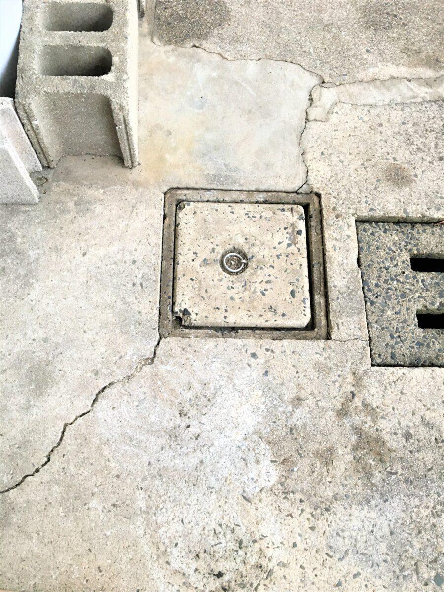 小倉北区泉台 排水ます交換 作業前