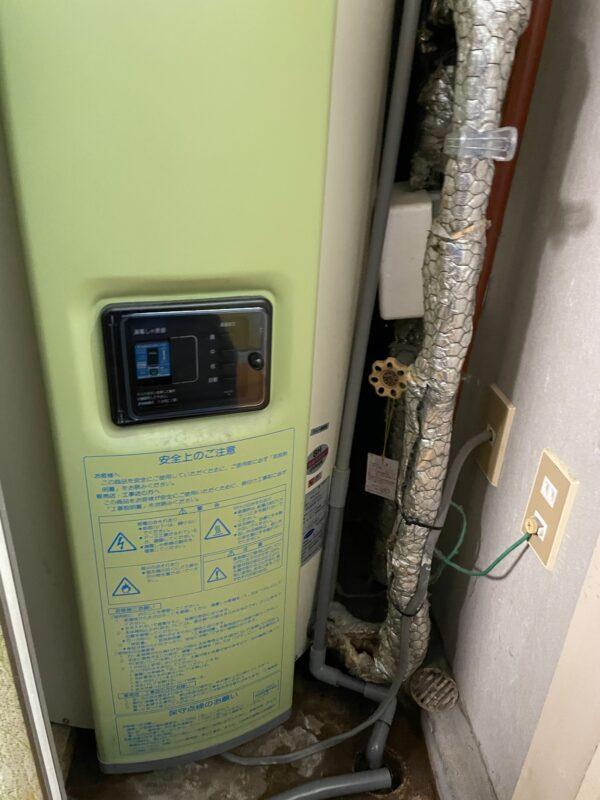 小倉北区皿山町 電気温水器交換 作業前2