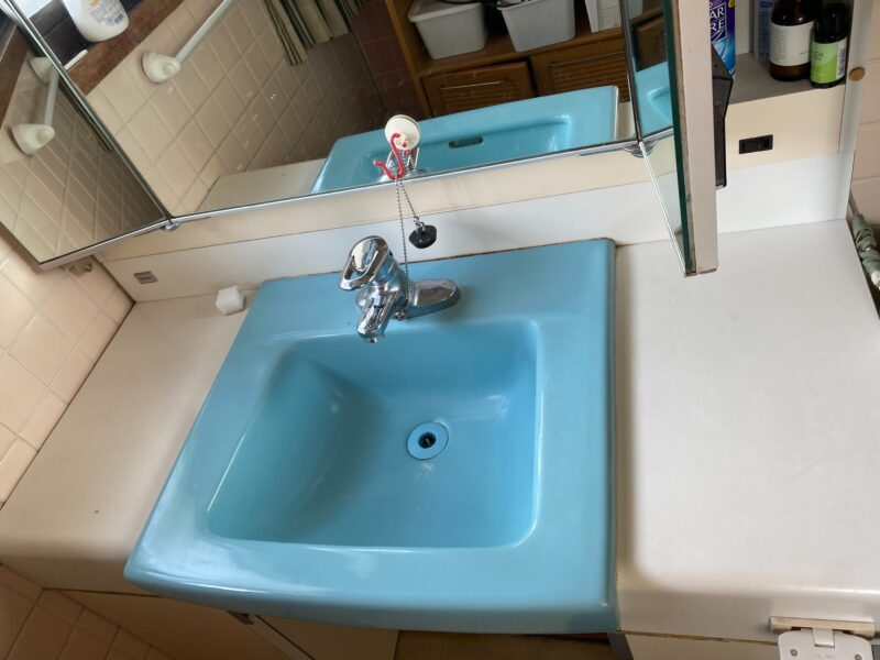 小倉北区三郎丸 蛇口交換3台 洗面作業前